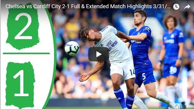EPL Cardiff City V Chelsea FC 1-2 ALL Goals 31 March 2019