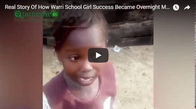 Watch as this warri school girl made a huge success at this stage
