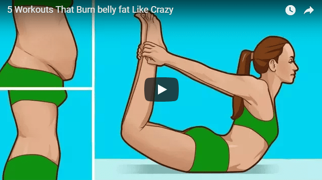 Burn belly fat with this natural workouts in 5 different ways