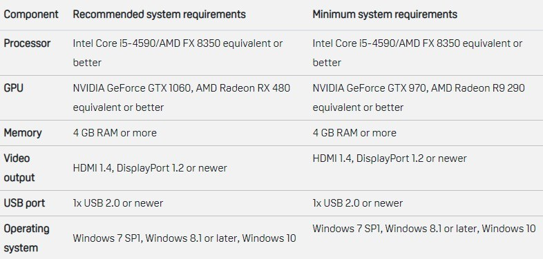 Htc Vive System Requirements >> Best Steam Compatible Vr Headset In 2019 Smart Glasses Hub