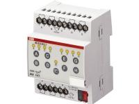 ABB Indgangsmodul 8-kanal KNX potentilafri, kontaktscanning DIN 90x72x64 mm. Manuel betjening i front.