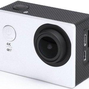 """Action Kamera Sæt - 4k - Wifi - 30 M Vandtæt - 2"""" Skærm - Hvid"""
