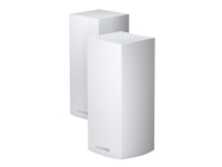 Linksys VELOP Whole Home Mesh Wi-Fi System MX8400 - Trådløs router - 3-port switch - GigE, 802.11ax - 802.11a/b/g/n/ac/ax - Tri-Band (pakke med 2)