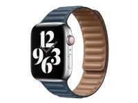 Apple 44mm Leather Link - Urrem for smart watch - S/M størrelse - baltisk blå - for Watch (42 mm, 44 mm)