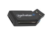Manhattan 101677, microSD (TransFlash),microSDHC,microSDXC,MMC,SD,SDHC,SDXC, Sort, 480 Mbit/s, CE, FCC, USB 2.0, Windows 7 Home Basic,Windows 7 Home