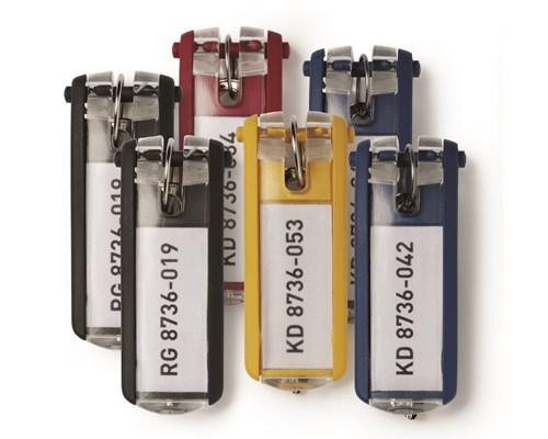 Durable Nøglebrik Key Clip Ass. Farver 24 Stk.