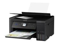 Epson EcoTank ET-2751 - Multifunktionsprinter - farve - blækprinter - A4/Legal (medie) - op til 10.5 spm (udskriver) - 100 ark - USB, Wi-Fi - sort