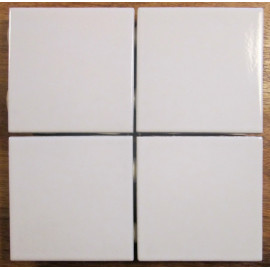 Modul Hvid Blank mosaik 9,7x9,7 cm