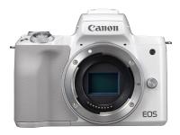 Canon EOS M50 - Digitalkamera - spejlløst - 24.1 MP - APS-C - 4K / 25 fps - kun kamerahus - Wi-Fi, NFC, Bluetooth - hvid