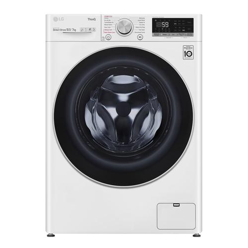 LG F4dv710s1we Vaske-tørremaskine - Hvid