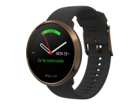 Polar Ignite - Kobber - smart ur med bånd - TPU - sort - båndstørrelse: M/L - Bluetooth - 35 g