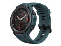 Amazfit T-Rex Pro - Stålblå - smart ur med bånd - silikonegummi - blue steel - display 1.3 - Bluetooth - 59.4 g