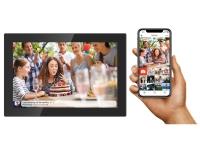 """Denver 10.1"""" digital Wi-Fi fotoramme med FRAMEO software og glasfront, 25,6 cm (10.1), 1280 x 800 pixel, IPS, JPEG, 16 GB, MicroSD (TransFlash), Mic"""