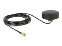 Delock WLAN 802.11 b/g/n Antenna SMA plug 3 dBi fixed omnidirectional with connection cable - Antenne - Smart Home - 3 dBi - omni-directional - Inden