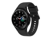 Samsung Galaxy Watch4 Classic - 46 mm - sort - smart ur med rillesportsbånd - fluoroelastomer - sort - display 1.4 - 16 GB - 7.6 GB - NFC, Wi-Fi, Bl