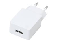 eSTUFF Home Charger - Strømforsyningsadapter - 12 Watt - 2.4 A (USB) - hvidmatteret