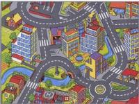 Bil Legetæppe SMART CITY 95 x 133 cm