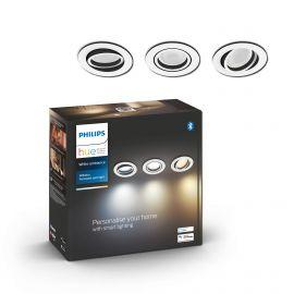 Philips Hue Milliskin Hue recessed R. Hvid 3x5W - 929003045001