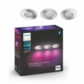 Philips Hue Xamento Hue recessed chrome 3x5.7W - 929003074801