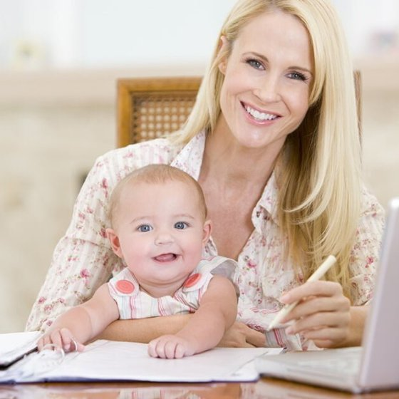 Work from home mother