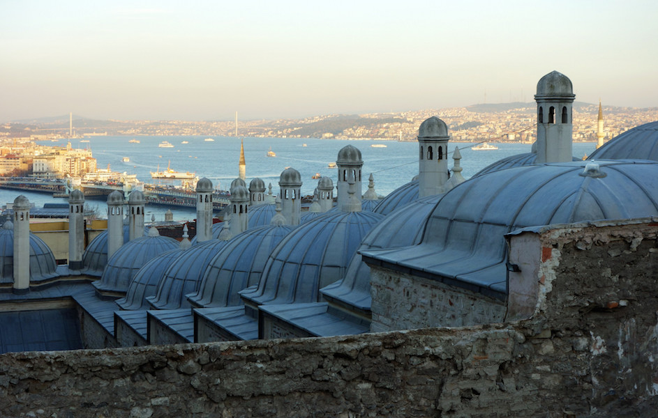 View from Süleymaniye to the Golden Horn, Mimar Sinan, Süleymaniye Mosque for the Sultan Süleyman the Lawgiver, 1558, Istanbul