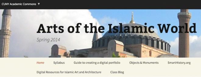 Dr. Elizabeth Macaulay-Lewis, Arts of the Islamic World class website