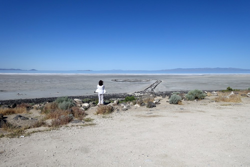 Robert Smithson, Spiral Jetty, 1970 (Great Salt Lake, Utah) (photo: Dr. Steven Zucker) ©Holt-Smithson Foundation