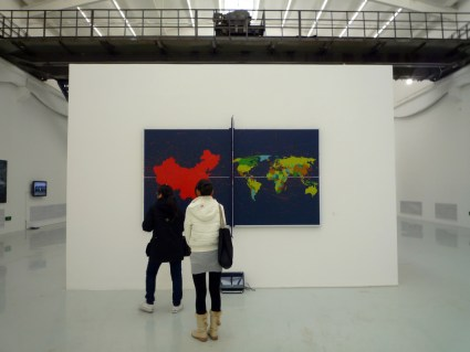 Painted ping pong table, 798 Gallery, Beijing (photo: Dr. Steven Zucker)