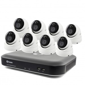 Swann 8Ch 2TB NVR 8 x 5MP Thermal Sensing Dome Cameras
