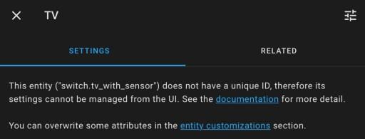 Si no puede personalizar su entidad de esa manera y ve este mensaje, puede personalizar la entidad usando el menú de personalización.
