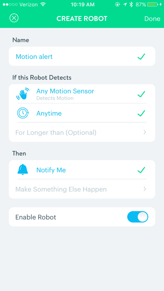 Get an alert when there is motion.