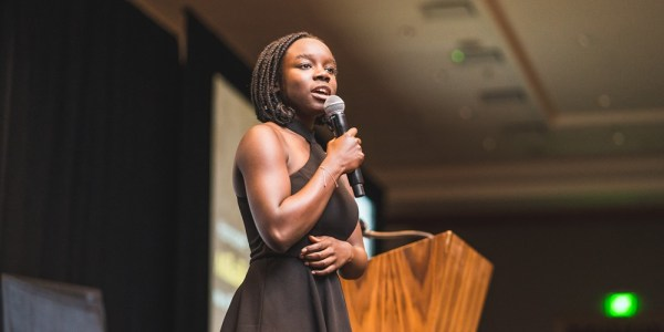 On stage, Mikaila Ulmer of Me & the Bees shares social entrepreneurship and business classes