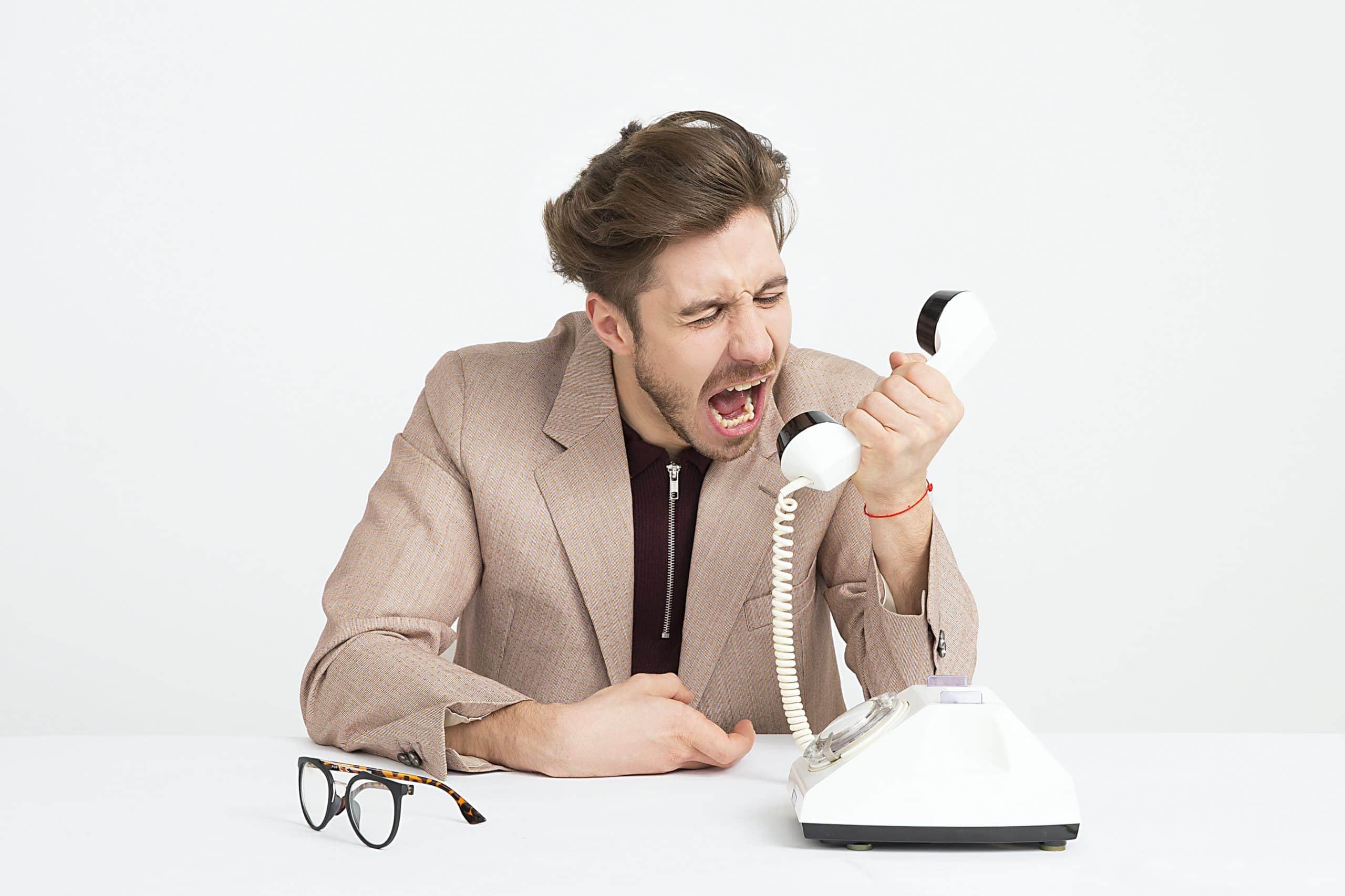 politics in workplace - man yelling