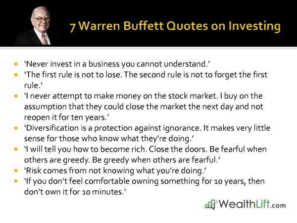 Warren Buffett Quotes on Investing | Smart Investing ...