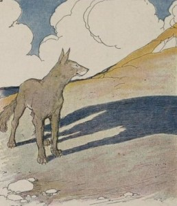 Read more about the article THE WOLF AND HIS SHADOW – Aesop Fables for Kids