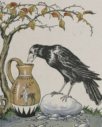 THE CROW AND THE PITCHER – Aesop Fables for Kids