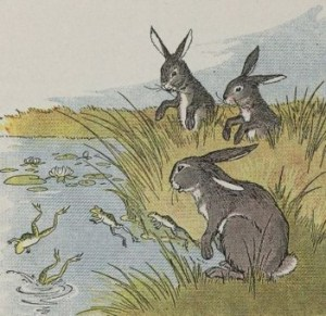 Read more about the article THE HARES AND THE FROGS – Aesop Fables for Kids