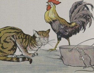 Read more about the article THE CAT, THE COCK, AND THE YOUNG MOUSE – Aesop Fables for Kids