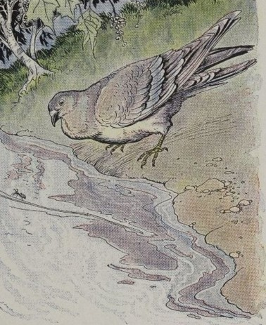 THE ANT AND THE DOVE - Aesop Fables for Kids
