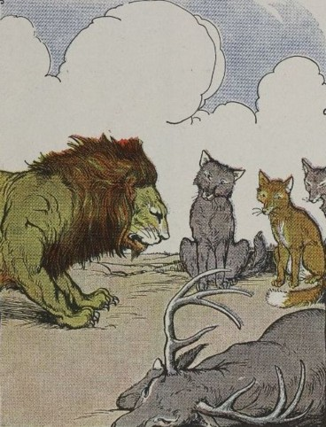 THE LION'S SHARE - Aesop Fables for Kids