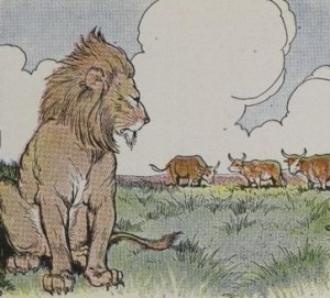 Read more about the article THREE BULLOCKS AND A LION – Aesop Fables for Kids
