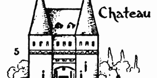 Drawing for kids step by step - How to draw Chateau 5