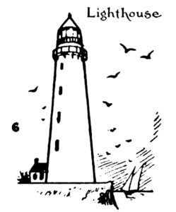 Step by step drawing for kids - How to draw Lighthouse 6