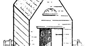 how to draw a Barn step by step