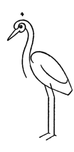 Drawing for kids step by step - Crested Crane 4