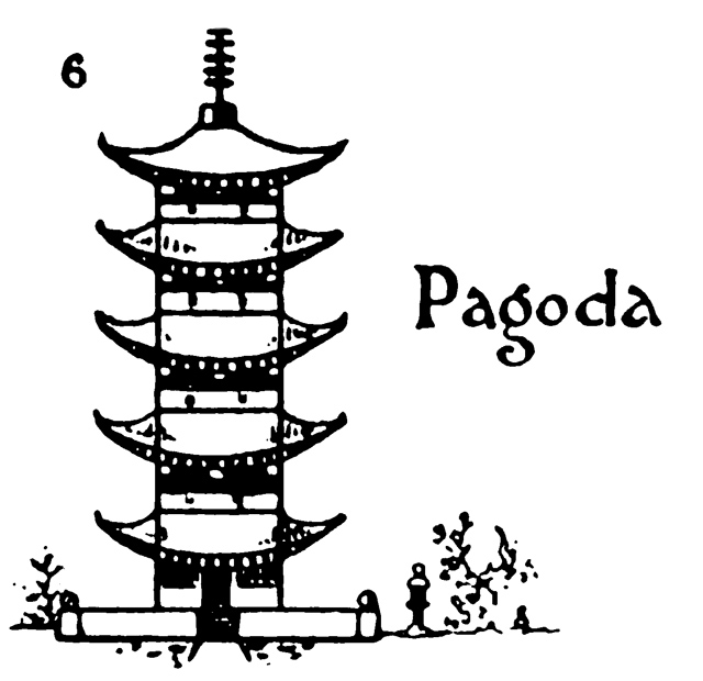 Step by step drawing for kids – How to draw Pagoda
