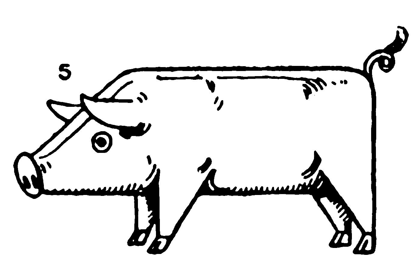 Pig Toy – Drawing for kids step by step