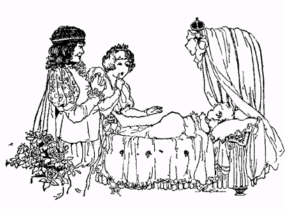 The Sleeping Beauty short story with pictures