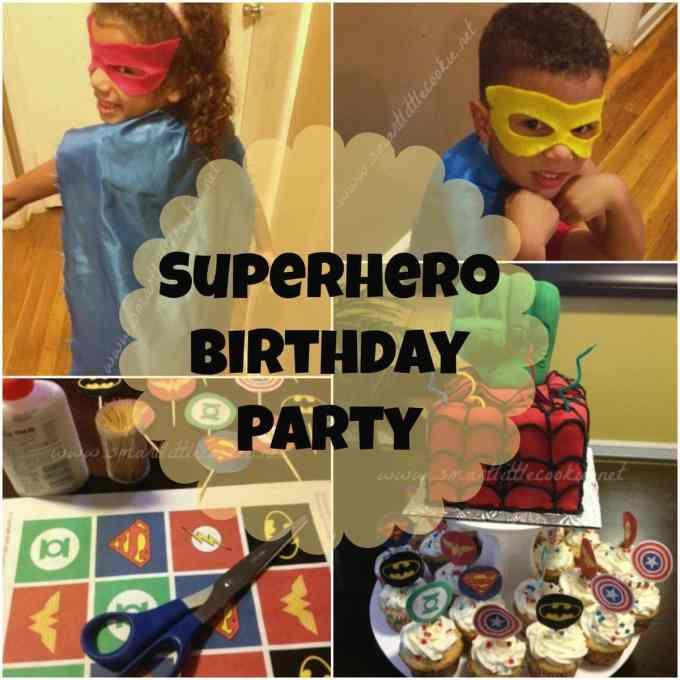 Superhero Birthday | SmartLittleCookie.net