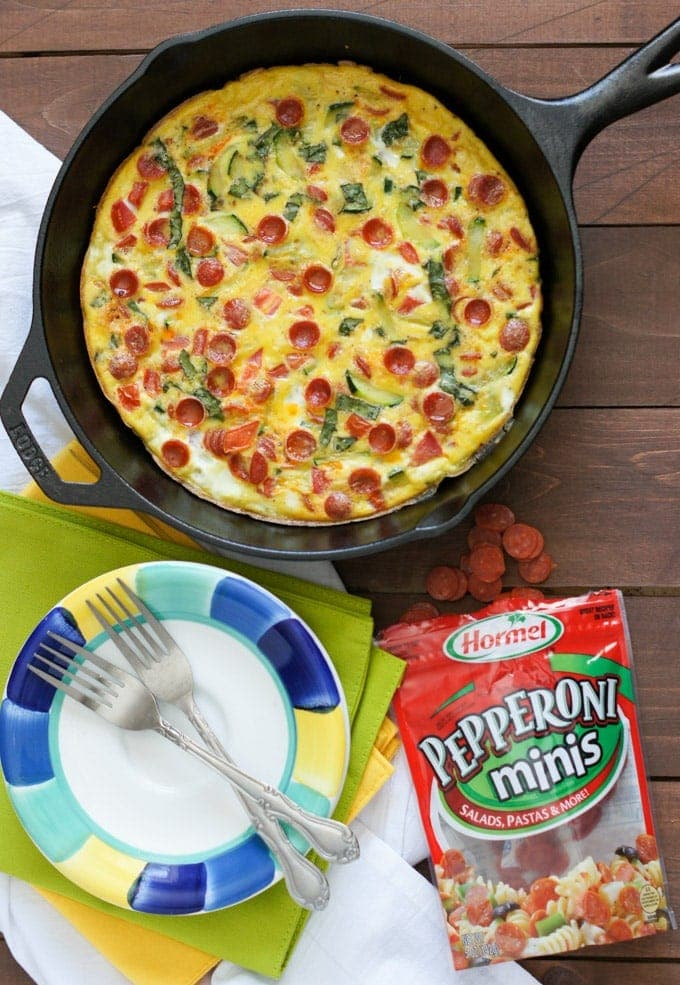 Hormel Pepperoni and Vegetables Frittata | SmartLittleCookie.net